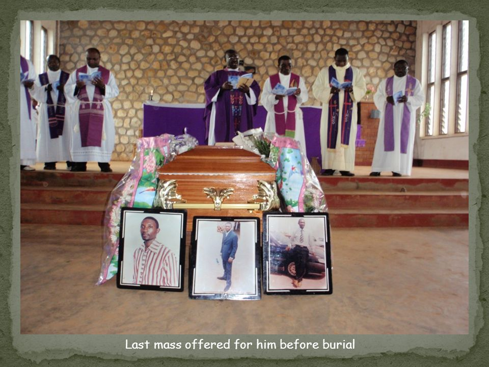 Last mass offered for him before burial