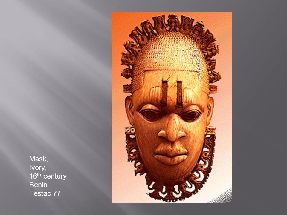 Mask, Ivory, 16 th century Benin Festac 77