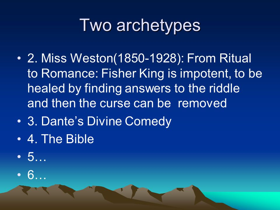 Two archetypes (stories) Two archetypes (stories) 1.