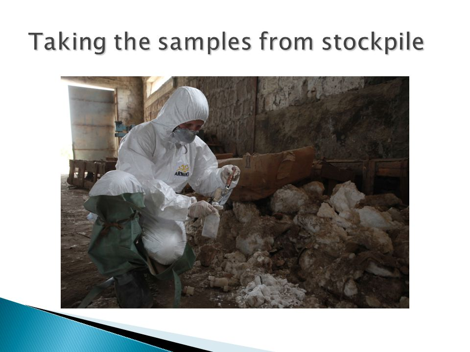 Taking the samples from stockpile
