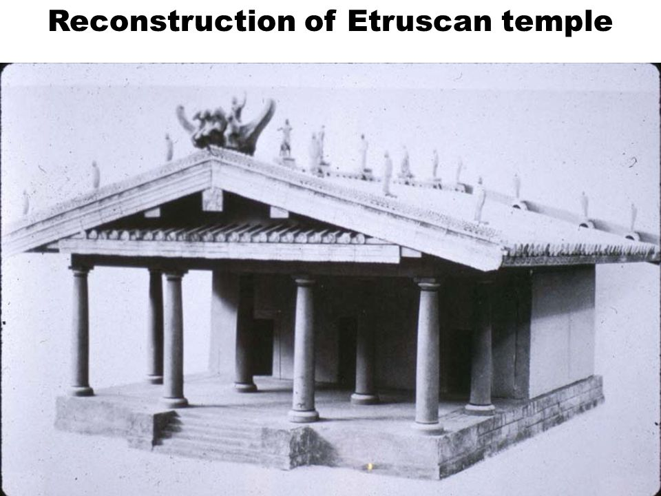 Reconstruction of Etruscan temple