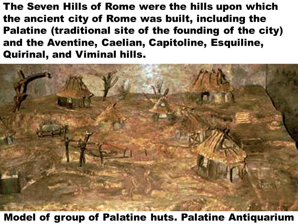 Model of group of Palatine huts.