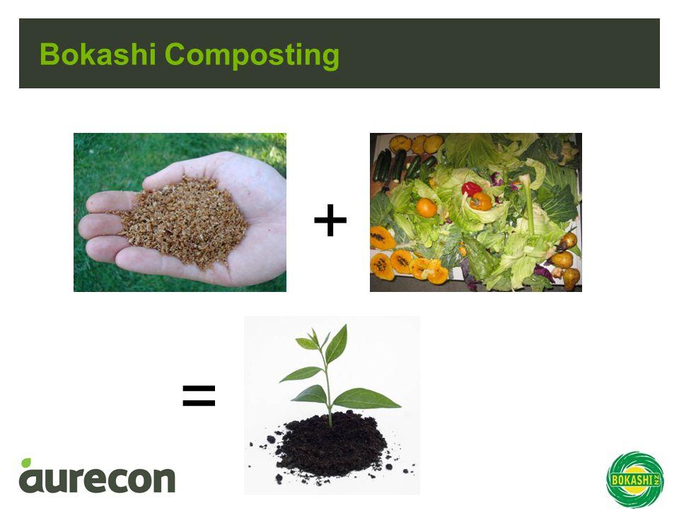 Bokashi Composting + =