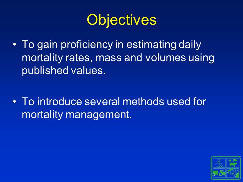Mortality Management by Rendering Alternatives to prompt transport Freezing Fermentation