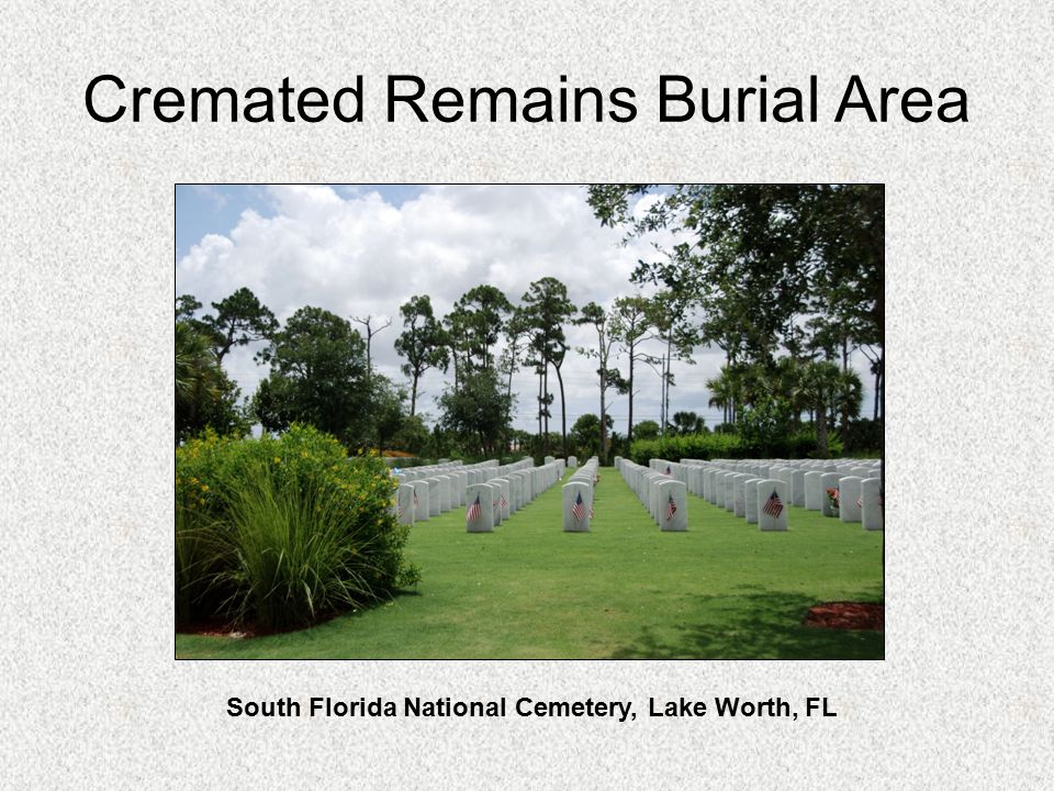 Cremated Remains Burial Area South Florida National Cemetery, Lake Worth, FL