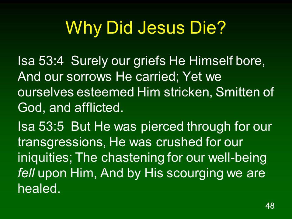 48 Why Did Jesus Die.