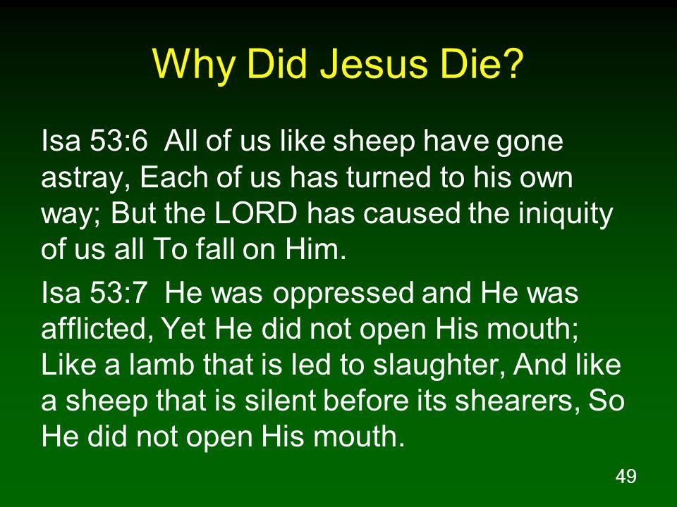 49 Why Did Jesus Die.