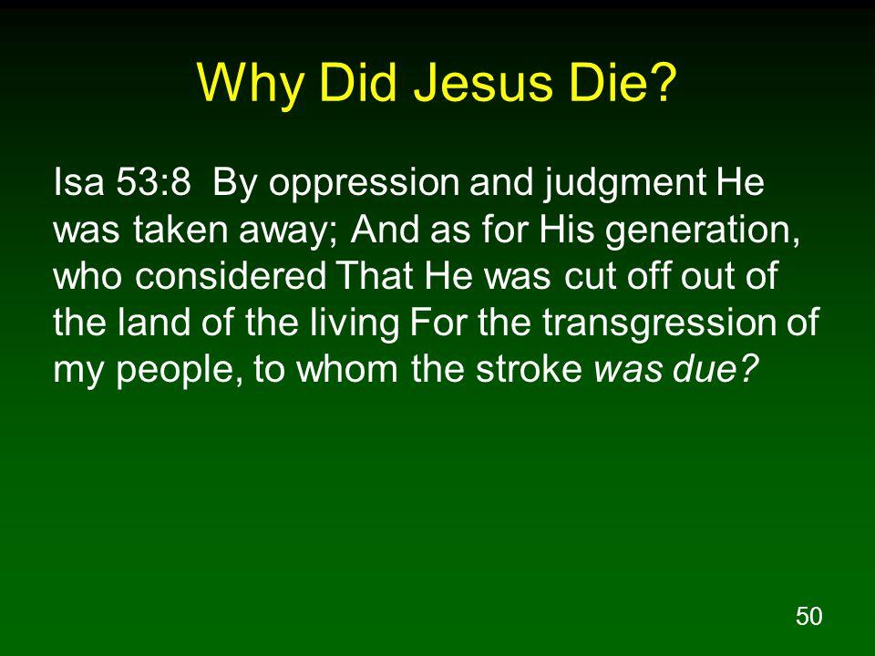 50 Why Did Jesus Die.