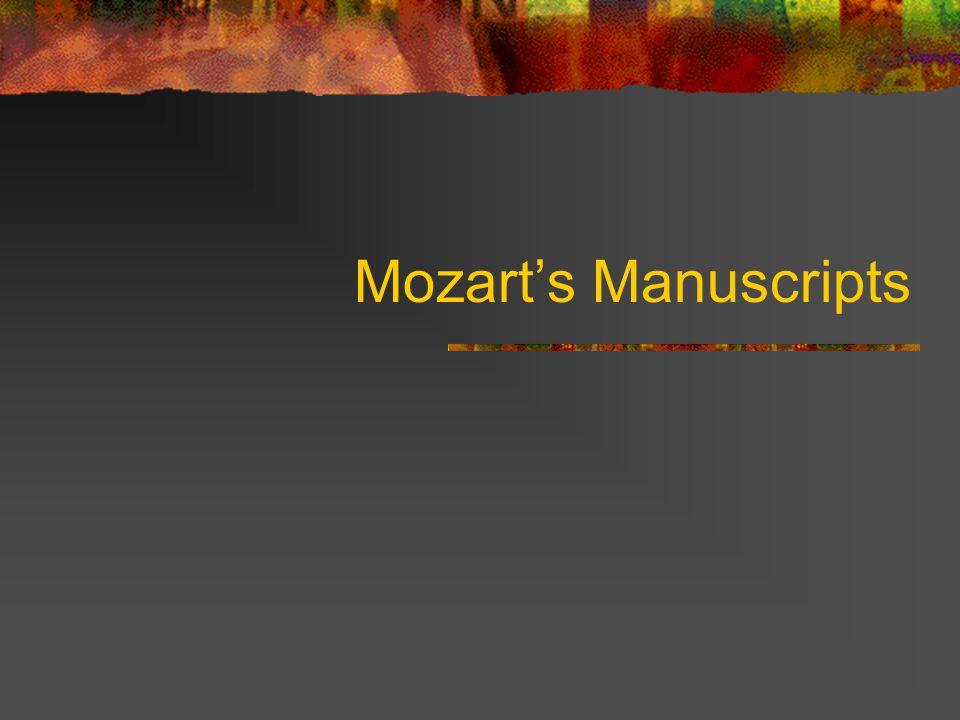 Mozart's Manuscripts