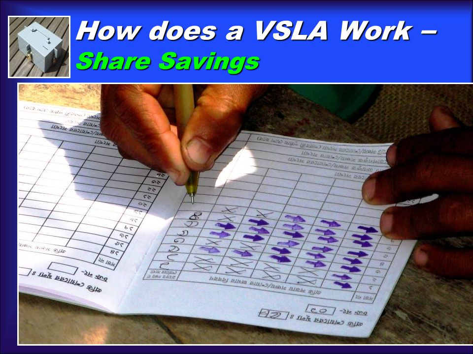 How does a VSLA Work – Share Savings