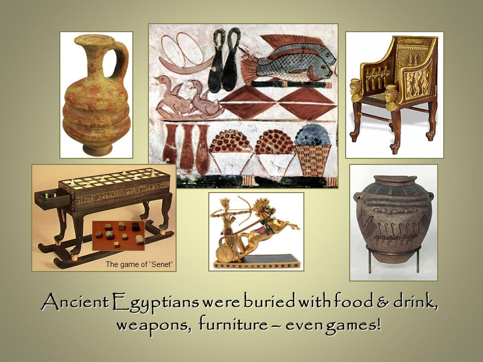 """Ancient Egyptians were buried with food & drink, weapons, furniture – even games! The game of """"Senet"""""""