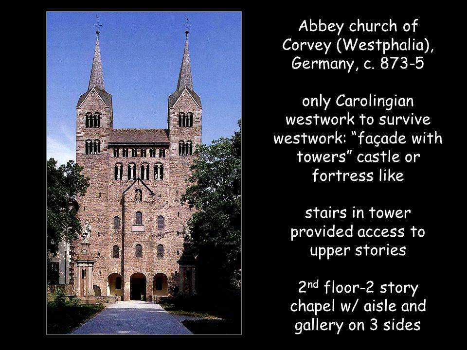 Abbey church of Corvey (Westphalia), Germany, c.