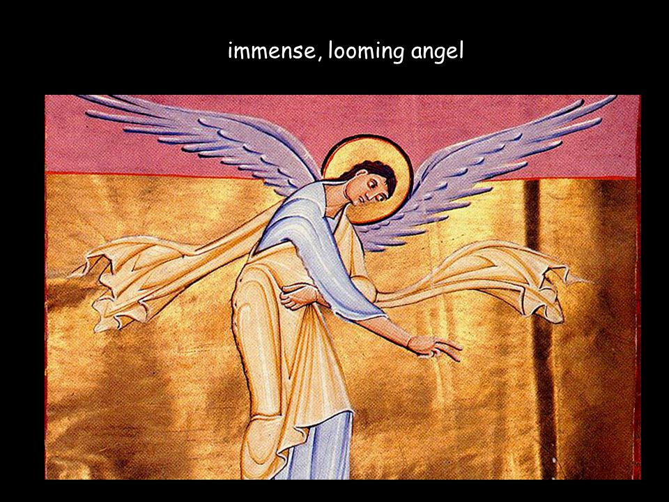 immense, looming angel