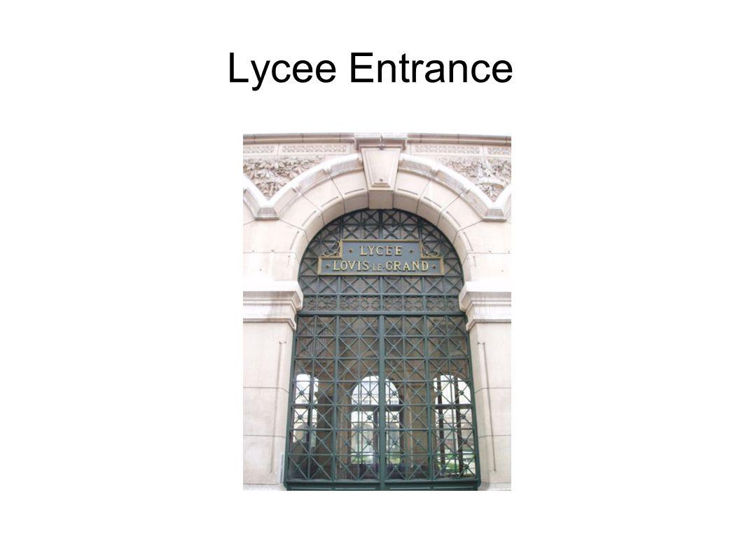 Lycee Entrance