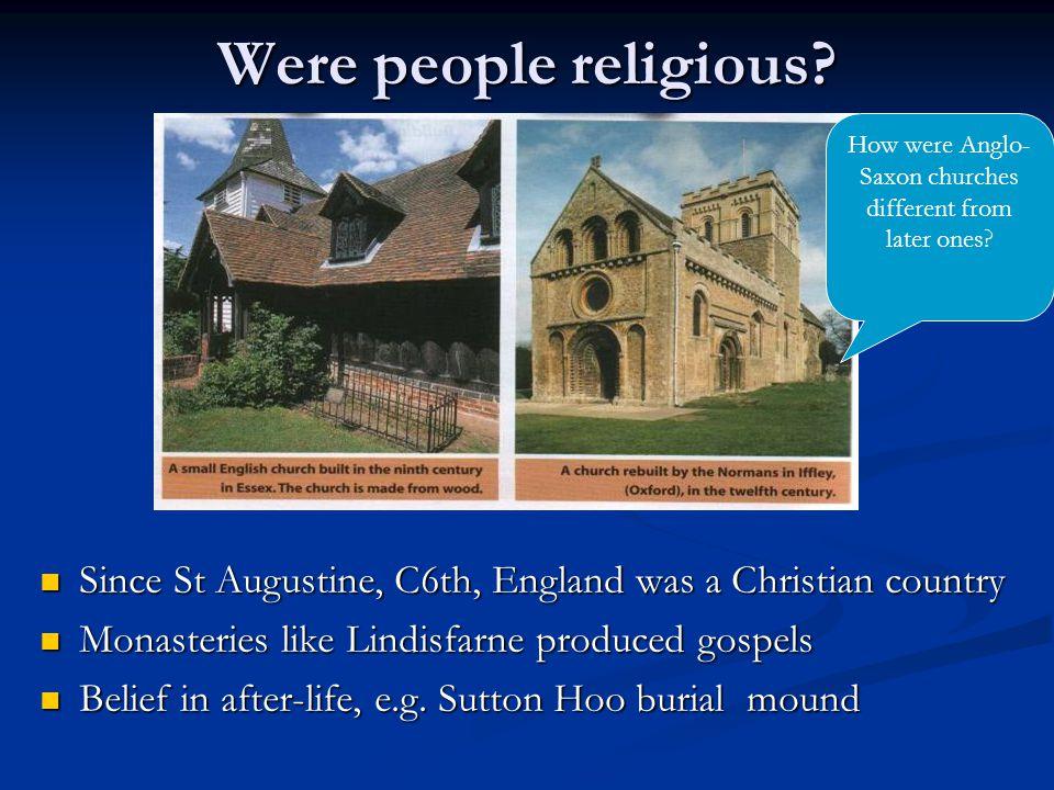 Were people religious.