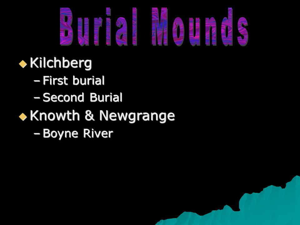  Kilchberg –First burial –Second Burial  Knowth & Newgrange –Boyne River