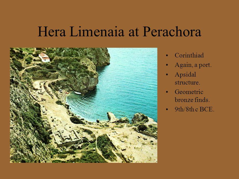 Hera Limenaia at Perachora Corinthiad Again, a port.