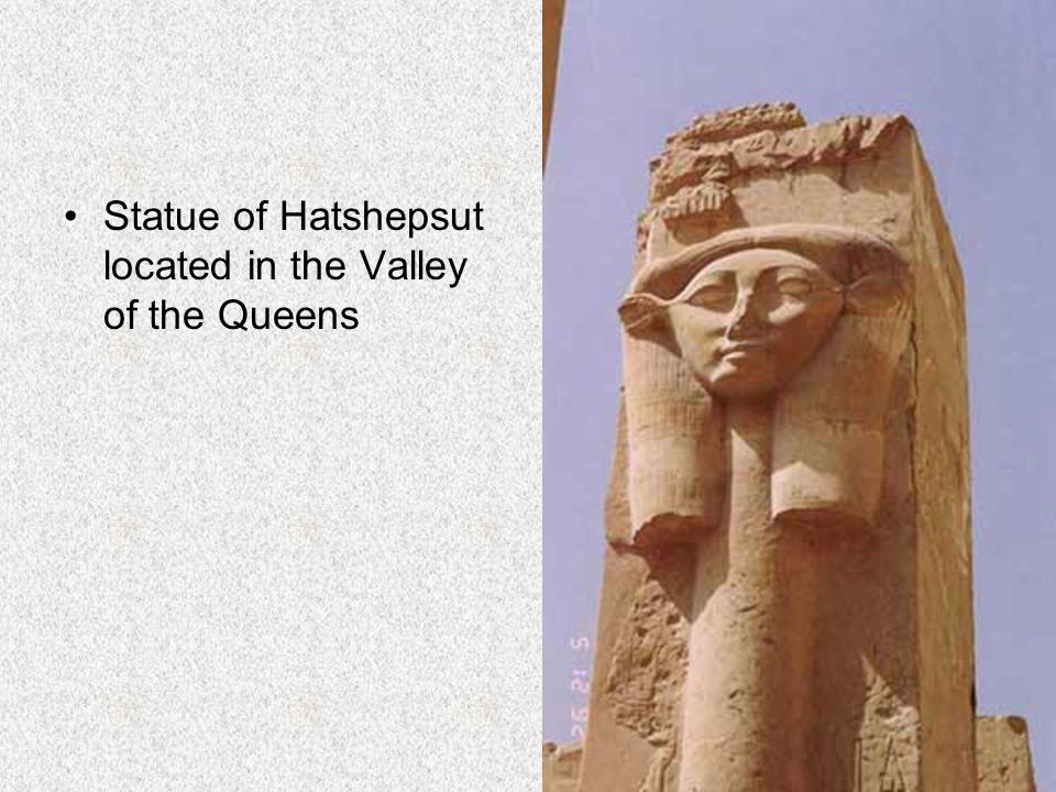 Statue of Hatshepsut located in the Valley of the Queens