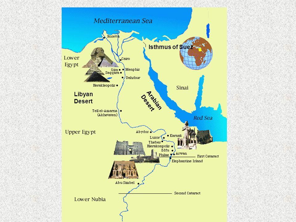Isthmus of Suez Libyan Desert Arabian Desert