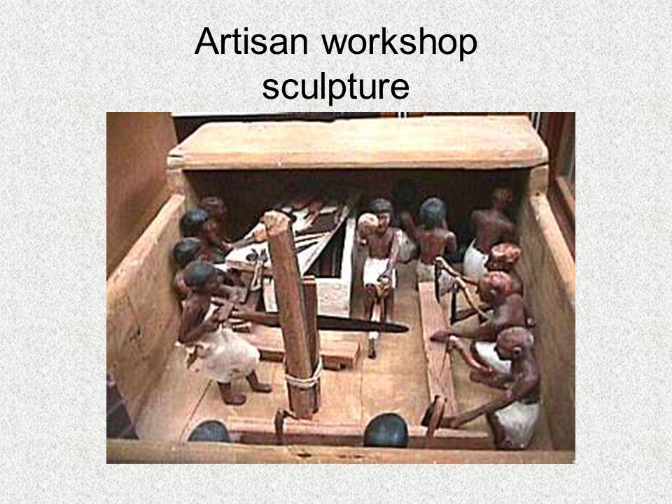 Artisan workshop sculpture