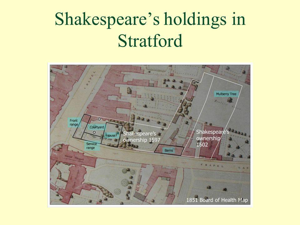 Shakespeare's holdings in Stratford