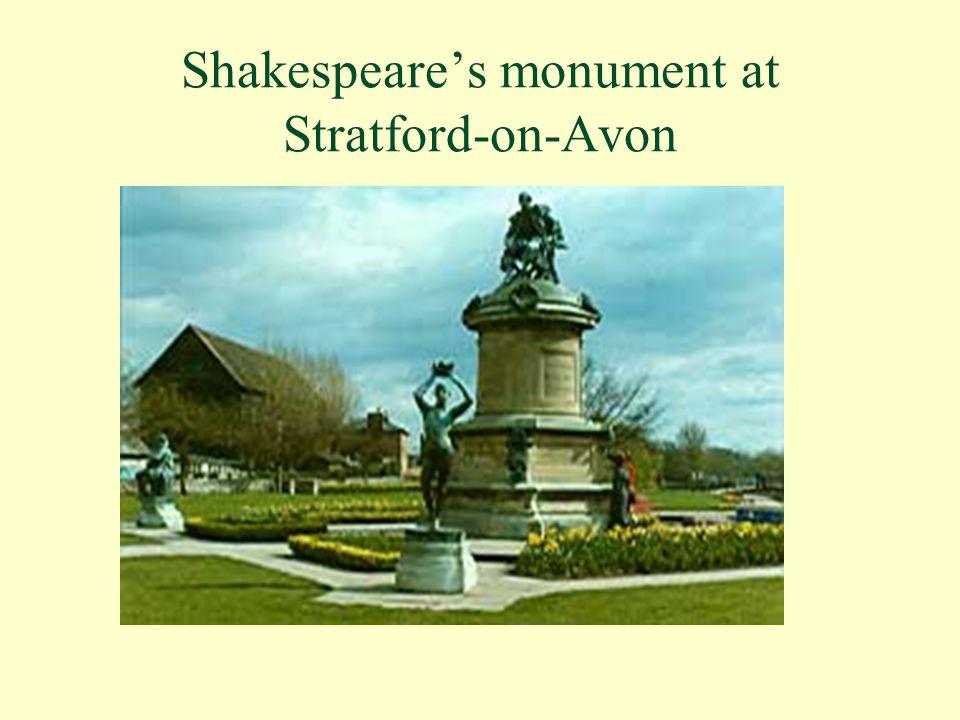Shakespeare's monument at Stratford-on-Avon
