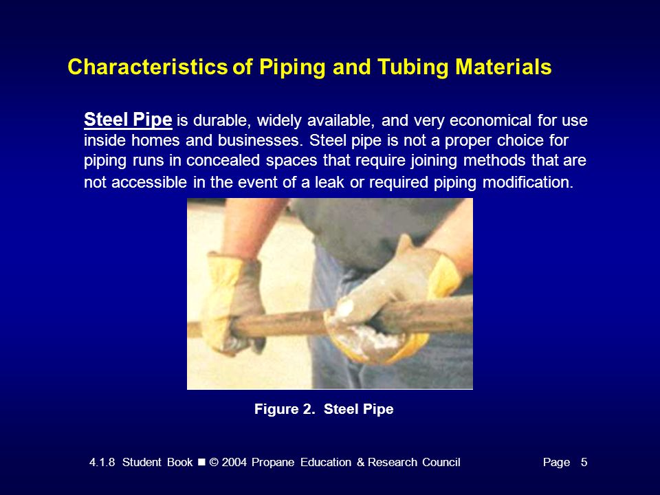 4.1.8 Student Book © 2004 Propane Education & Research CouncilPage 13 Sizing Methods for Buried Distribution Lines Polyethylene (PE) Piping/Tubing — System Components Figure 9.