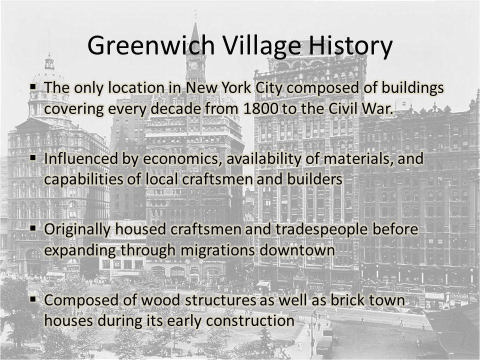Greenwich Village History