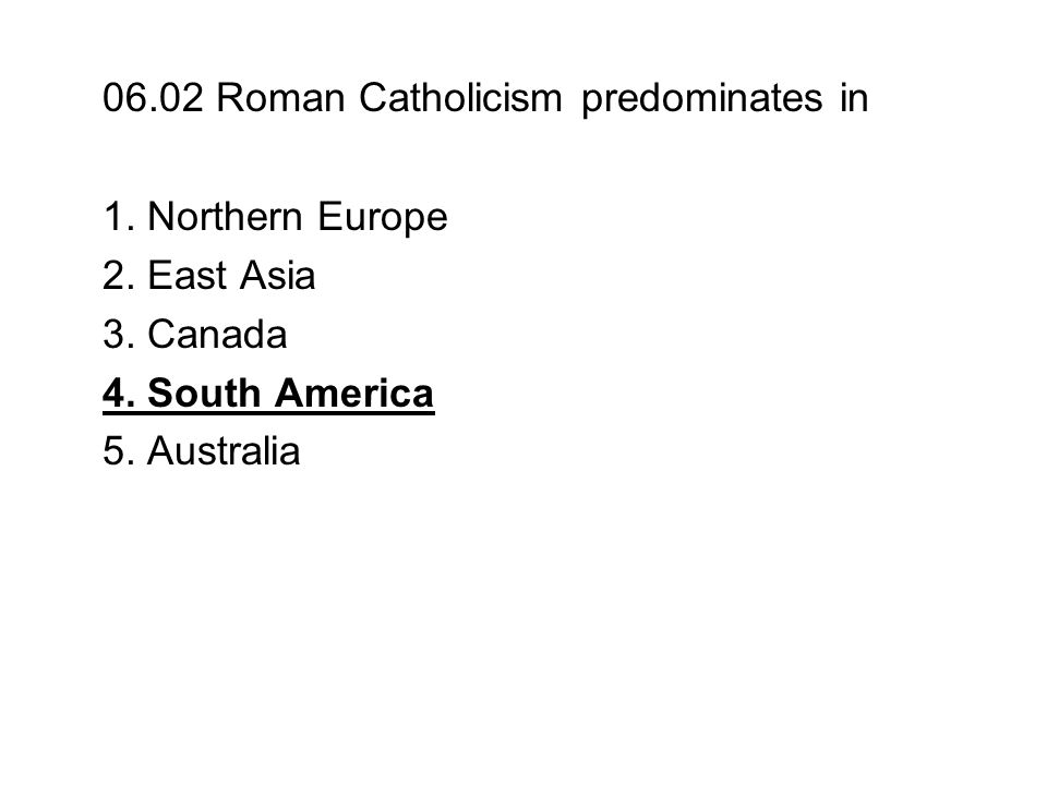 06.08 What is the second-highest rank within the Roman Catholic hierarchy.