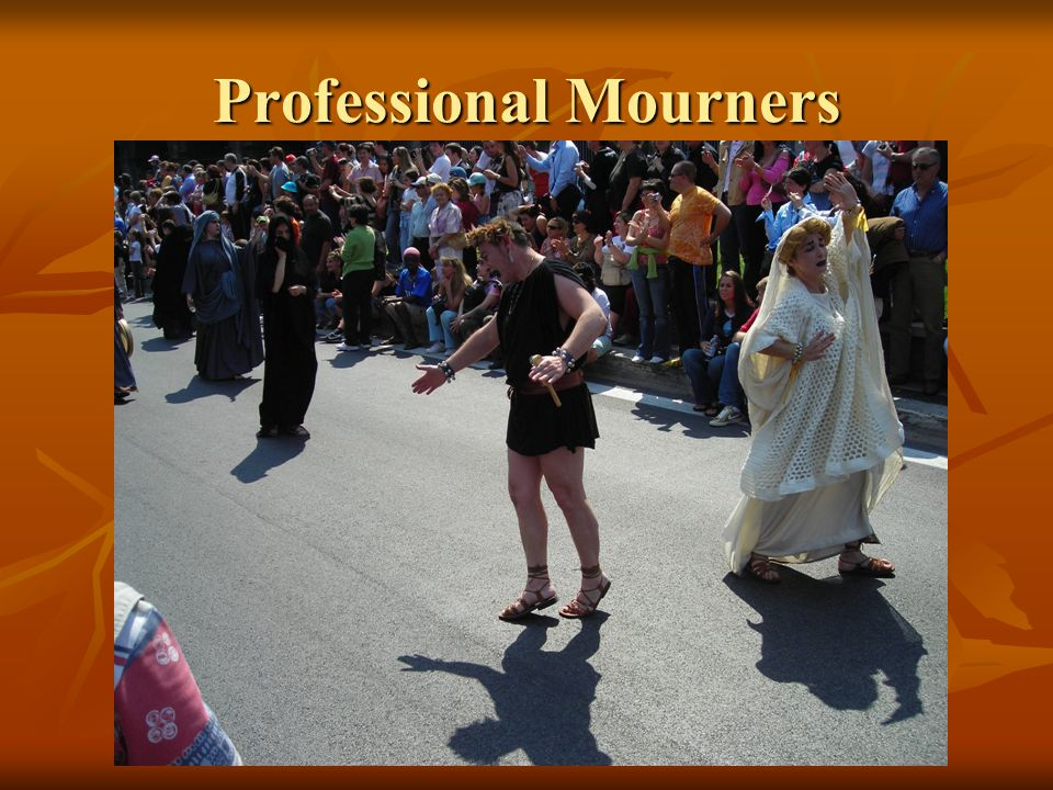 Professional Mourners