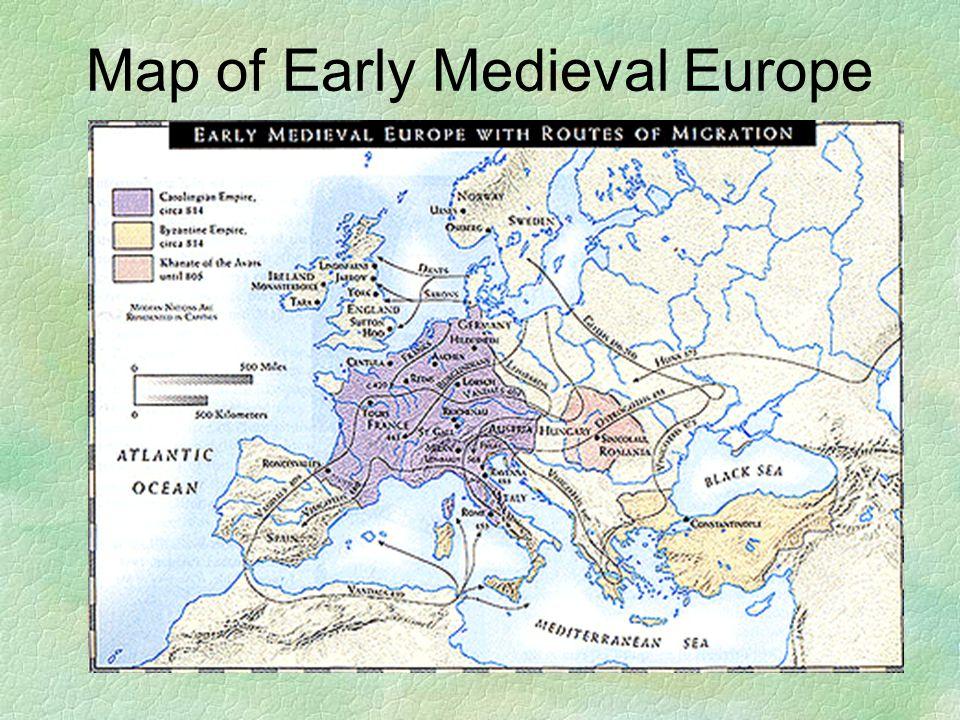 Map of Early Medieval Europe