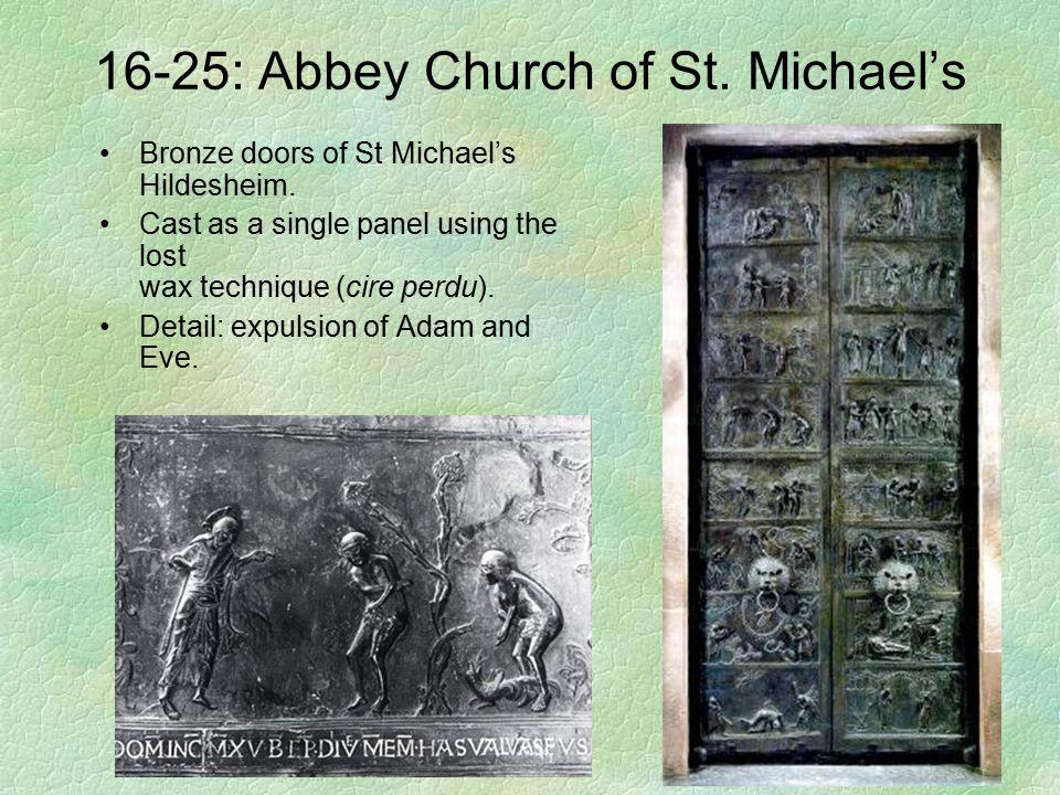 16-25: Abbey Church of St. Michael's Bronze doors of St Michael's Hildesheim. Cast as a single panel using the lost wax technique (cire perdu). Detail