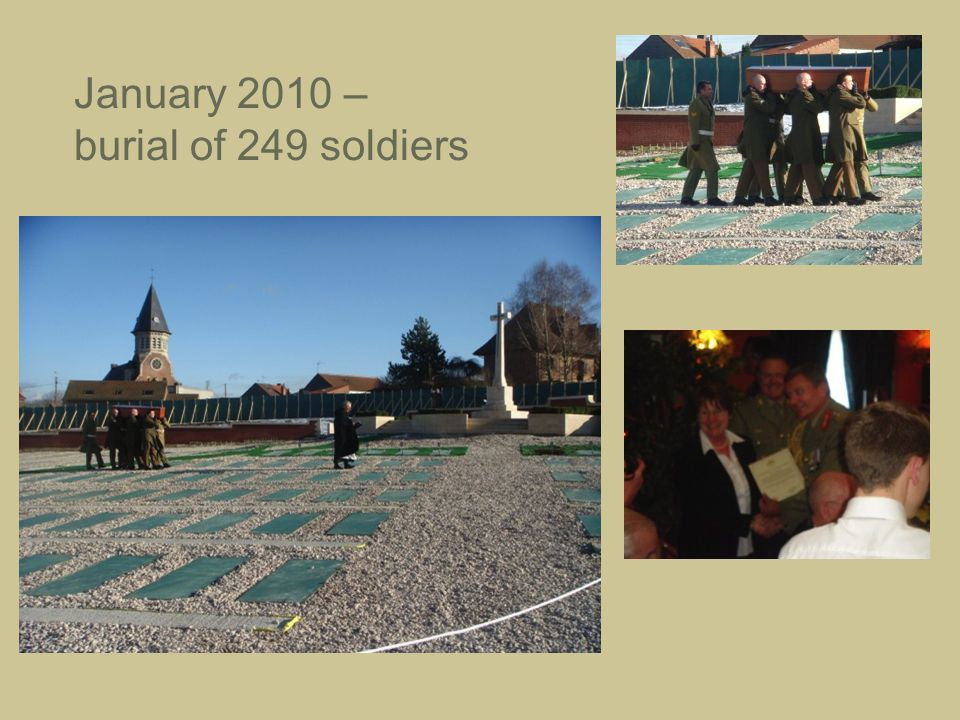 January 2010 – burial of 249 soldiers