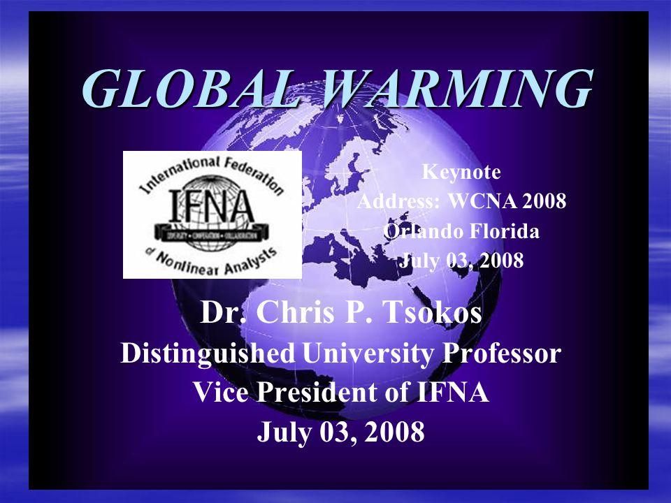 GLOBAL WARMING Research Seminar Team Chris P.