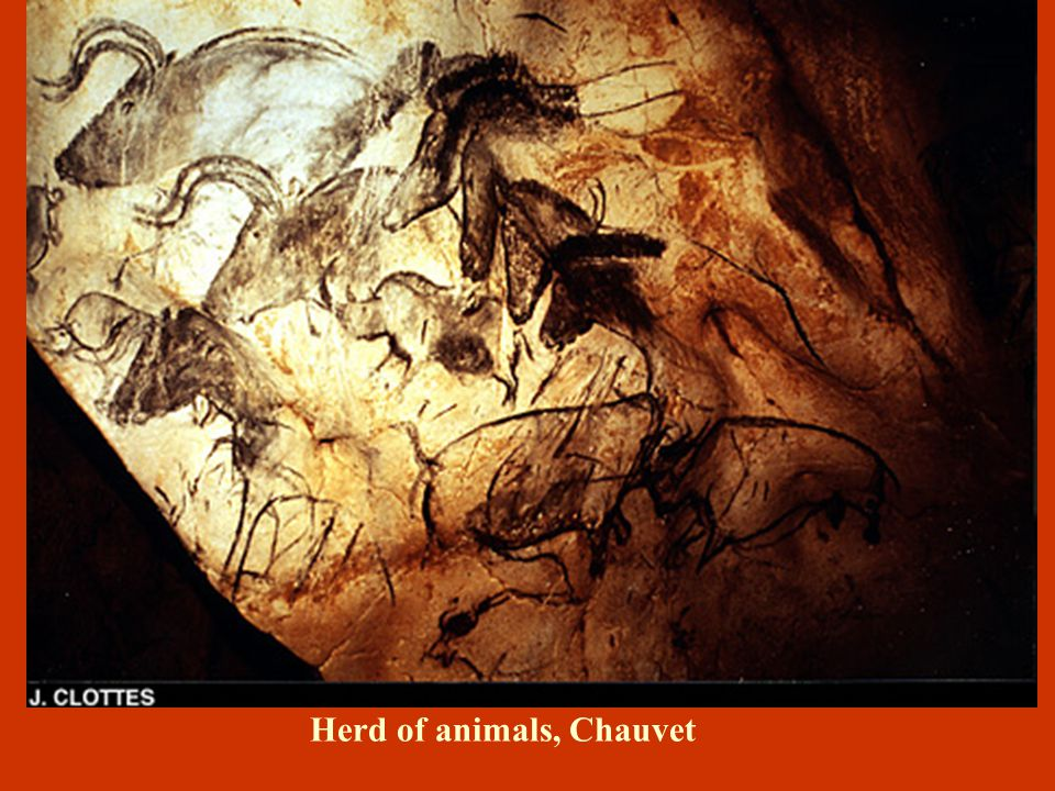 La Grotte Chauvet: 30,000 bp – World's Oldest Painted Cave  The cave was not used for human habitation  A hearth was possibly used to provide light for Paleolithic artists  Scores of cave bears appear to have hibernated in the grotto, and the ground is littered with their bones  Discovered in 1994 near Vallon- Pont-d'Arc in southern France