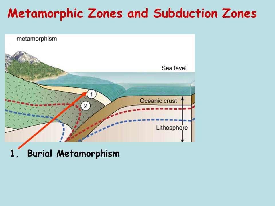 Metamorphic Zones and Subduction Zones Sediments 1. Burial Metamorphism