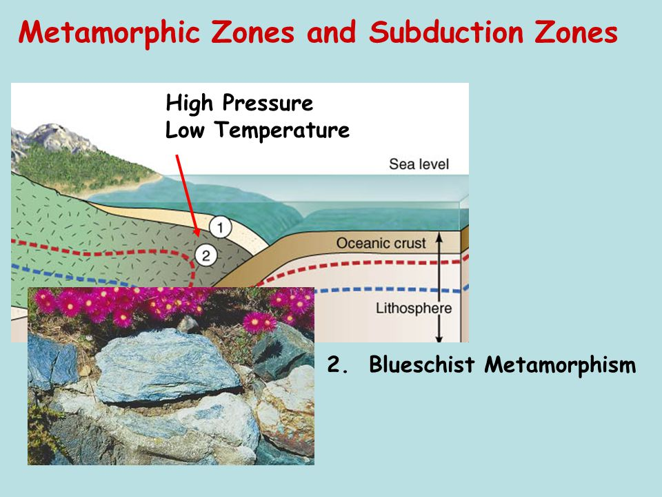 Metamorphic Zones and Subduction Zones 2. Blueschist Metamorphism High Pressure Low Temperature