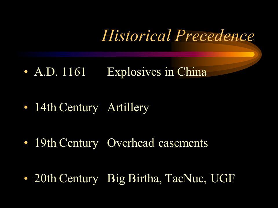 Historical Precedence A.D.