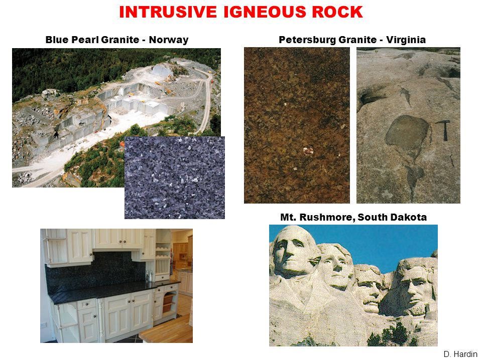 INTRUSIVE IGNEOUS ROCK Petersburg Granite - Virginia D.