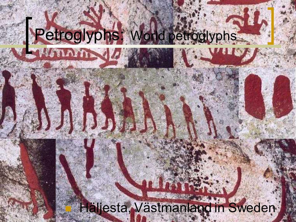 Petroglyphs: World petroglyphs Häljesta, Västmanland in Sweden