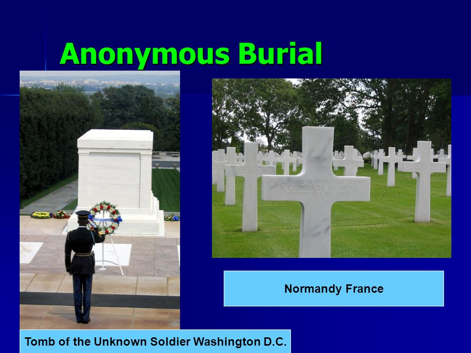 Anonymous Burial Normandy France Tomb of the Unknown Soldier Washington D.C.