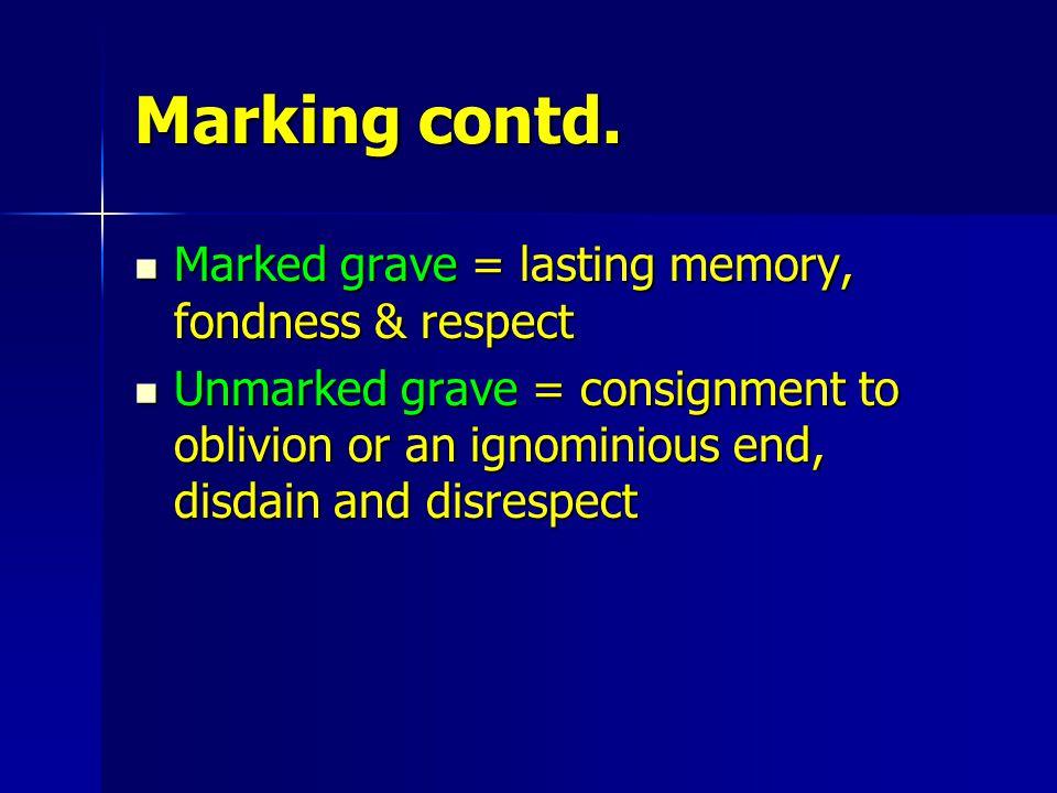Marking contd.