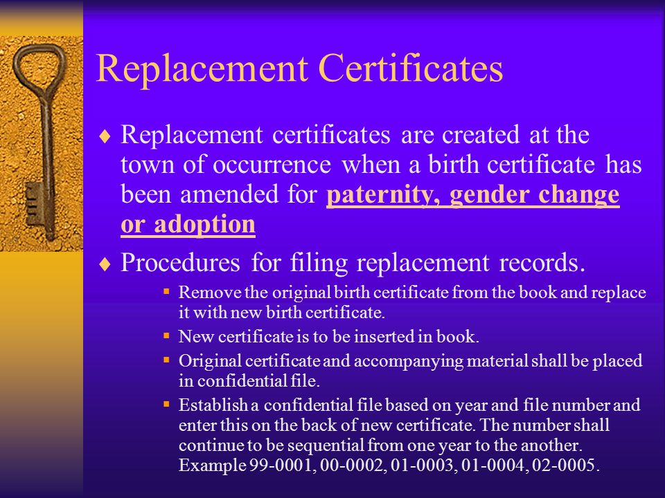 Corrections and Amendments, cont.  Let's look at some specific types of birth amendments….