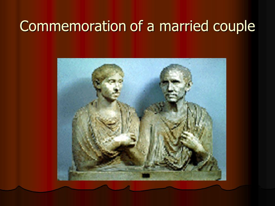 Commemoration of a married couple