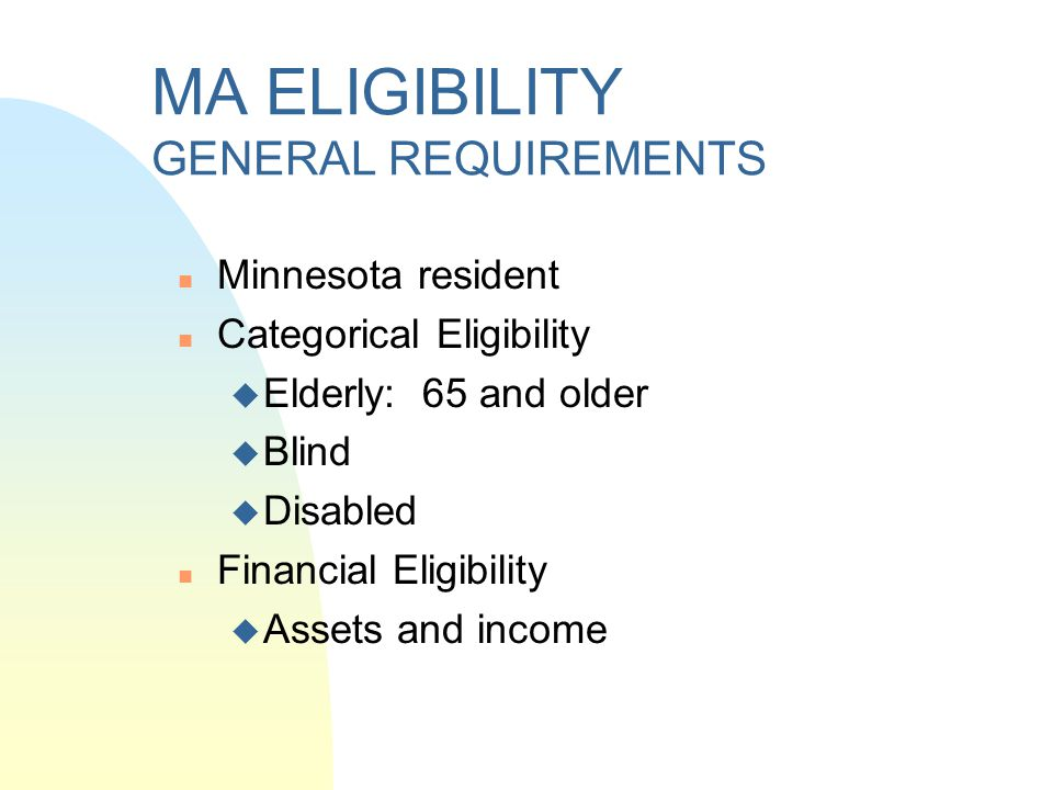 Home and community-based programs in MN For persons under 65 years of age: n Mental Retardation or Related Conditions (MR/RC) n Community Alternative