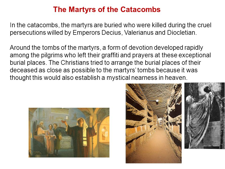 Catacombs of San Callixtus (via Appia Antica) These are the largest catacombs of the city.