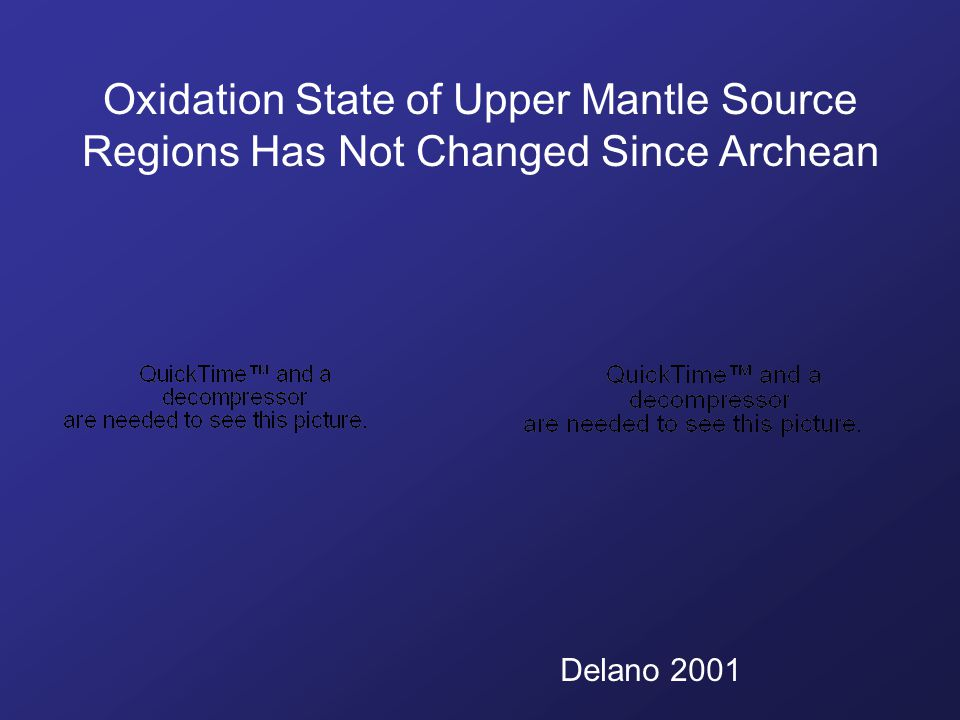 Oxidation State of Upper Mantle Source Regions Has Not Changed Since Archean Delano 2001
