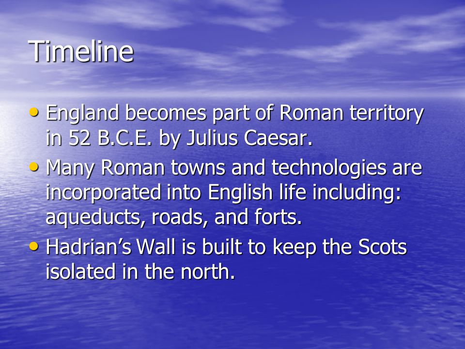 Timeline Contd.410 C.E: Rome taken by the Goths and Roman power declines.
