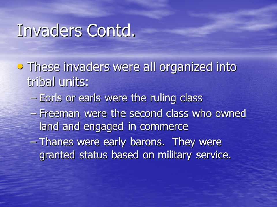 Invaders Contd.