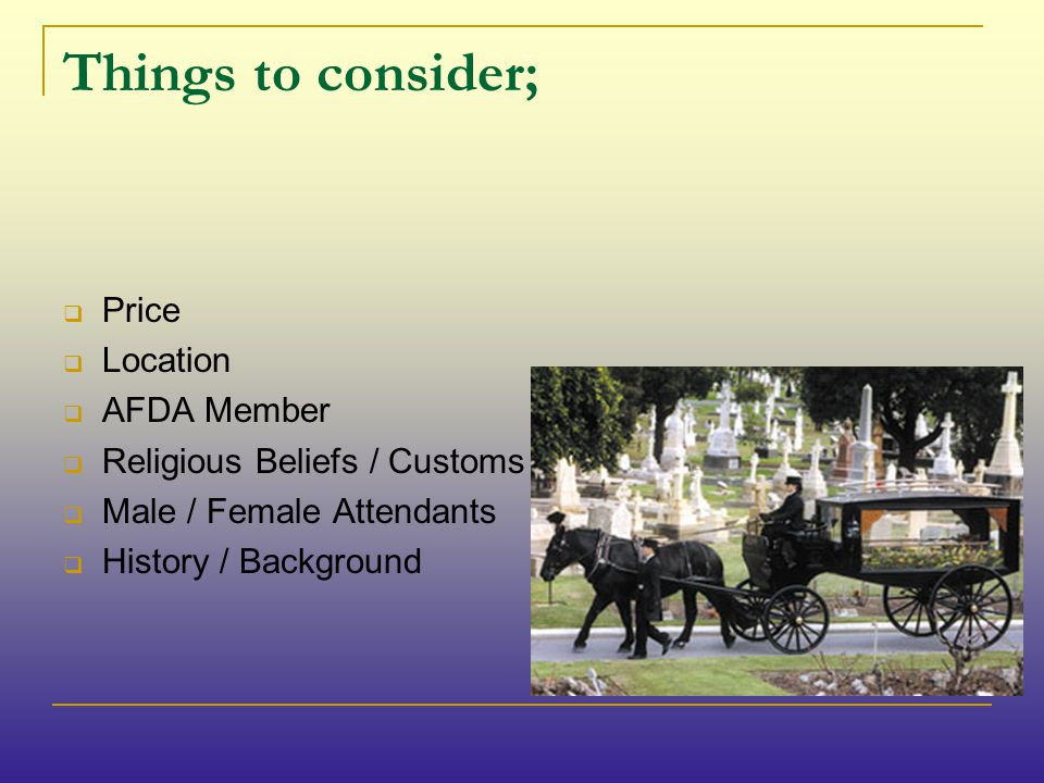 The Role of the Funeral Director; A funeral director plays a key role in arranging a funeral and ensuring everything goes according to plan on the day of the funeral.